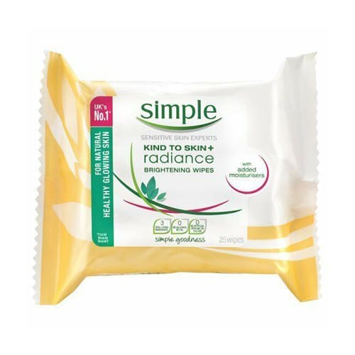 Simple Kind To Skin+ Radiance Brightening Cleansing Wipes - 25 Wipes