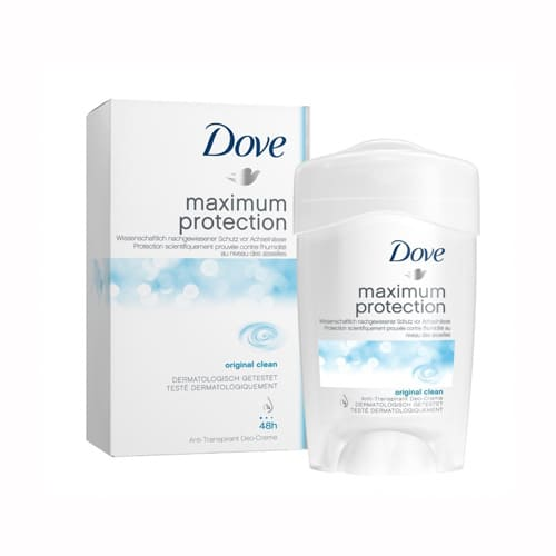 Dove Maximum Protection Original Clean Antiperspirant Cream 45ml