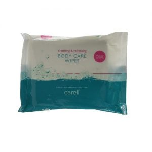 Carell Body Care Wipes Containing Aloe Vera Alcohol