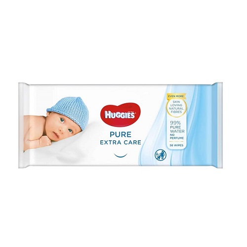 Huggies Pure Extra Care Baby Wipes 56pk