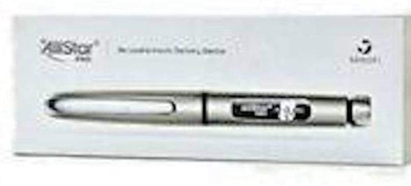 Allstar Pro from Sanofi-aventis Reusable Insulin delivery Device Silver