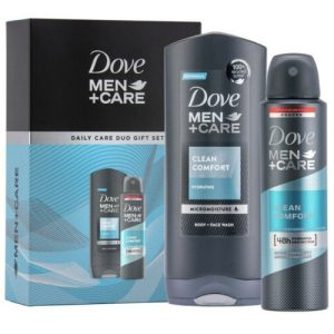 Dove Men+Care Daily Care Duo Gift Set For him, Body Wash 250ml & Deo 150ml