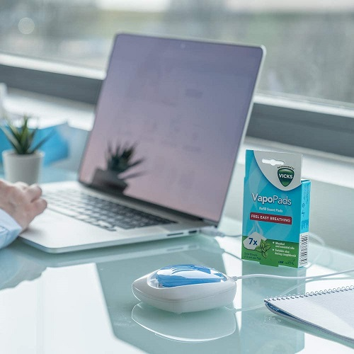 Vicks Portable Breath Easy Waterless Diffuser - USB Powered - Includes 2 pads